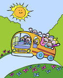 Sunshine Bus Stock Image