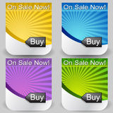 Sunshine Buy Button Set. A set of Sunshine Buy Buttons Royalty Free Stock Photo