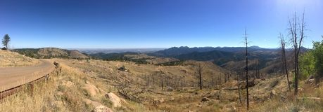 Sunshine Canyon Mountain Road Colorado Royalty Free Stock Image