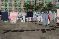 Sunshine. The clothes under the hot sunshine at Chia Wan in Hong Kong Stock Photography