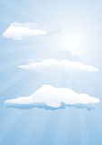 Sunshine and clouds Stock Photography