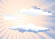 Sunshine and clouds Stock Images