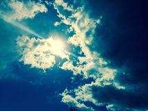 Sunshine and clouds Royalty Free Stock Images