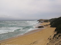 Sunshine coast on cloudy day Royalty Free Stock Photo