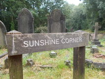 Sunshine Corner Sign royalty free stock photos
