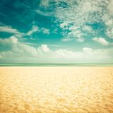 Sunshine on empty beach Royalty Free Stock Photo
