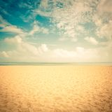 Sunshine on empty beach Royalty Free Stock Photography
