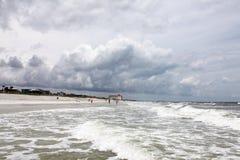 Sunshine Florida beach. In the summer time stock photos