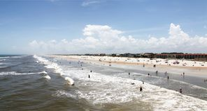 Sunshine Florida beach. In the summer time royalty free stock images