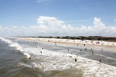 Sunshine Florida beach. In the summer time royalty free stock photography