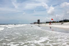 Sunshine Florida beach. In the summer time royalty free stock photo