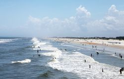 Sunshine Florida beach. In the summer time stock photography