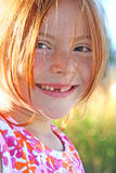 Sunshine and Freckles Stock Image
