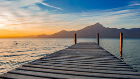Sunshine on Garda Lake Stock Images