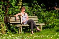 Sunshine garden relaxing Stock Images
