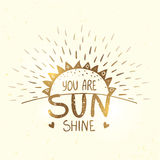 Sunshine gold silhouette Royalty Free Stock Images