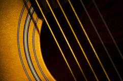 Sunshine on the guitar Royalty Free Stock Image