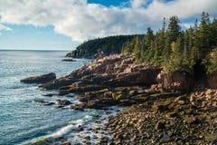 Maine coast morning. Sunshine hits the maine coast Royalty Free Stock Photography
