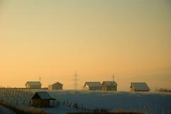 Sunshine houses Stock Image