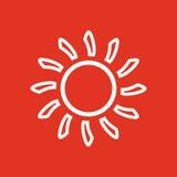 The sunshine icon. Sunrise and sunshine, weather, sun symbol. UI. Web. Logo. Sign. Flat design. App. Stock Stock Images