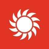 The sunshine icon. Sunrise and sunshine, weather, sun symbol. UI. Web. Logo. Sign. Flat design. App. Stock Royalty Free Stock Image