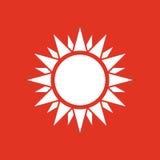 The sunshine icon. Sunrise and sunshine, weather, sun symbol. UI. Web. Logo. Sign. Flat design. App. Stock Royalty Free Stock Photos