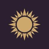 The sunshine icon. Sunrise and sunshine, weather, sun symbol. UI. Web. Logo. Sign. Flat design. App. Stock Royalty Free Stock Photo
