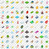 100 sunshine icons set, isometric 3d style. 100 sunshine icons set in isometric 3d style for any design vector illustration Stock Photos
