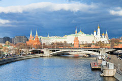 Sunshine illuminates Moscow Kremlin in autumn Royalty Free Stock Images