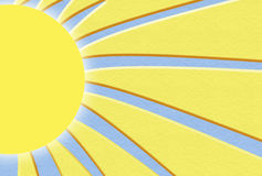 Sunshine illustration. Sun and it's rays appropriate for stationary or background Stock Image