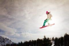 Sunshine jump Stock Photography