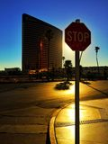 Sunshine in Las Vegas stock images