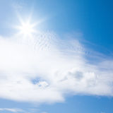 Sunshine and light clouds Royalty Free Stock Photos