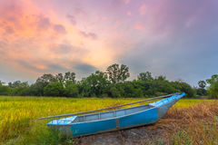 Sunshine on a little boat Royalty Free Stock Photo