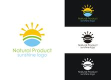 Sunshine logo Royalty Free Stock Images