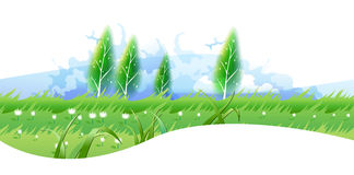 Sunshine meadow. For your text Royalty Free Stock Photos