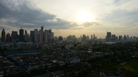 Sunshine morning in Bangkok city Thailand. Bangkok, Thailand - May 19, 2016 : Sunshine morning time of Bangkok city. Bangkok is the capital and the most populous stock footage