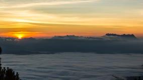 Sunshine on the morning mist Stock Photography