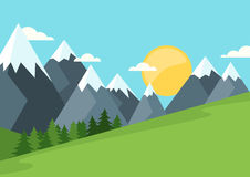 Sunshine morning in the mountains. Stock Image