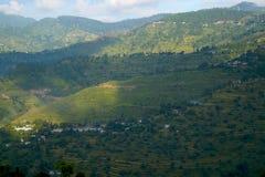 Sunshine and mountains Royalty Free Stock Image