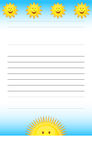 Sunshine Notepad Stock Images