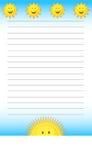 Sunshine Notepad Stock Images