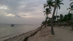 Sunshine. Ocean side in the Dominican Republic on a cloudy day Royalty Free Stock Photography
