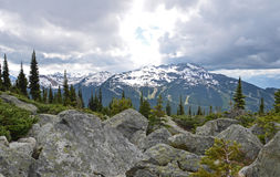 Sunshine On Whistler Mountain, Canada Royalty Free Stock Images