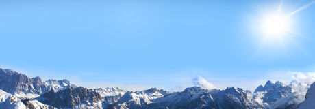 Sunshine over the alps Royalty Free Stock Images