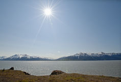 Sunshine over Cook Inlet Stock Photography