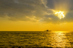 Sunshine over fisherman house Royalty Free Stock Photography