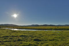 Sunshine over the Hulun Buir Grassland Royalty Free Stock Photo