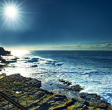 Sunshine over Maroubra beach Stock Photo