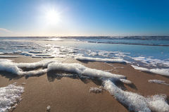 Sunshine over North sea beach Stock Images
